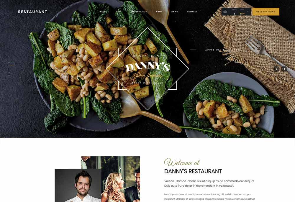 Restaurant Dannys | Restaurant and Cafe WordPress Theme