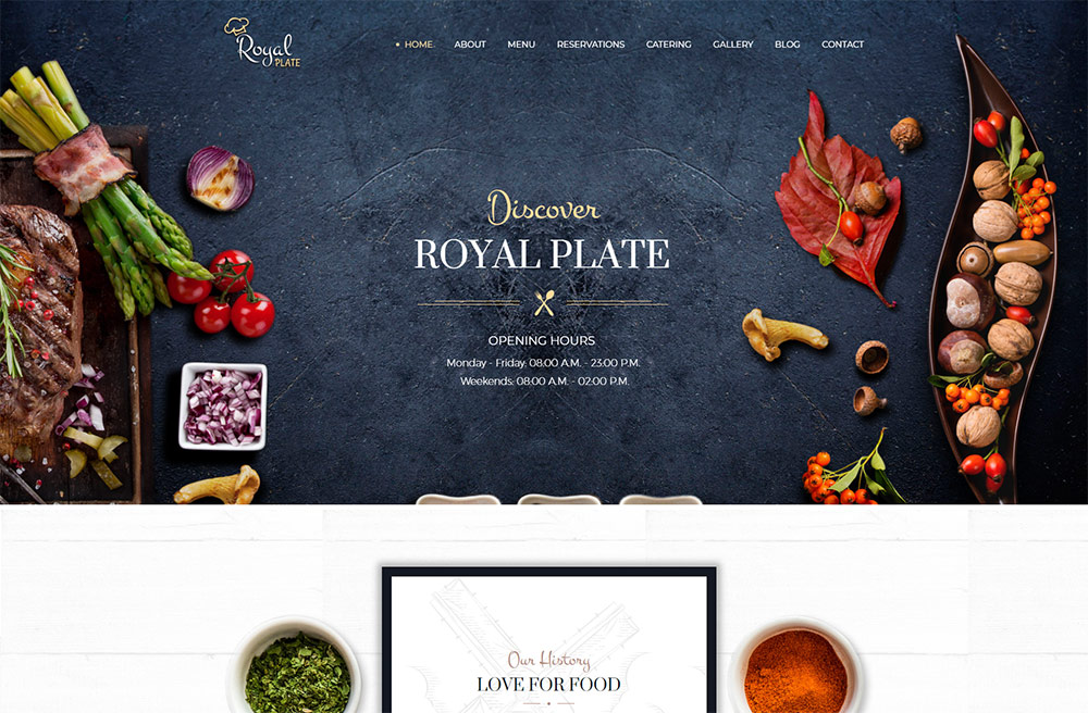 Royal Plate - Restaurant and Catering WordPress Theme
