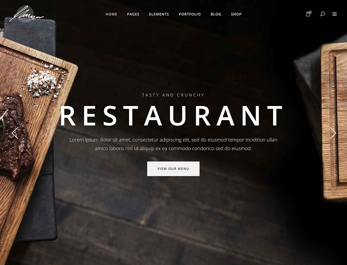 Savory - Restaurant WordPress Theme