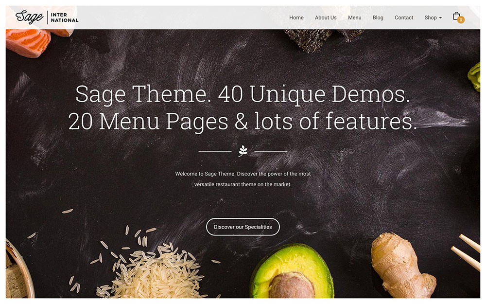 Sage - WordPress Restaurant Theme