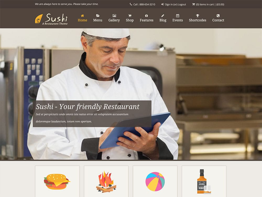Sushi Restaurant | Food & Restaurant Theme