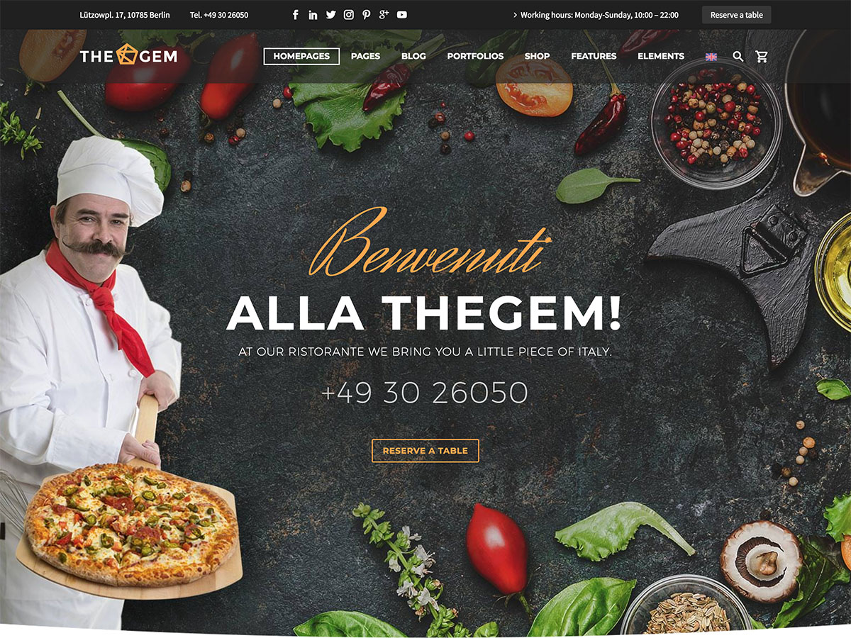 thegem restaurant wordpress theme