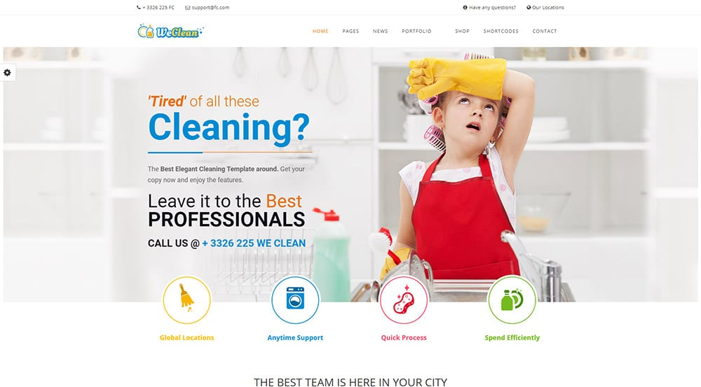 We Clean - Cleaning Business WordPress Theme