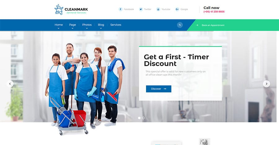 Cleanmark - Cleaning Janitorial Service WordPress Theme