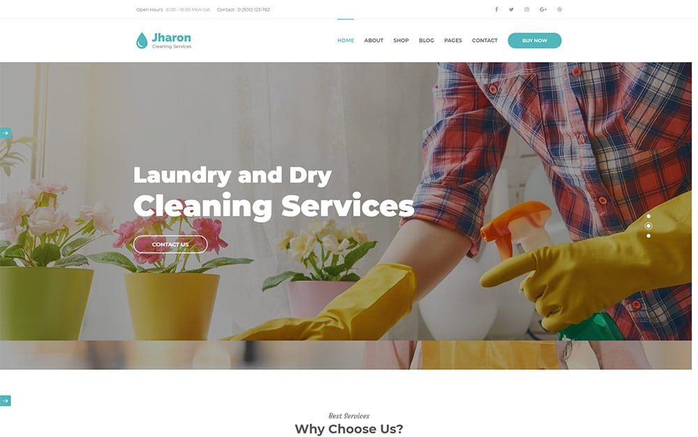 Jharon - Cleaning Service WordPress Theme